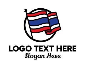 Asia - Thailand Flag logo design