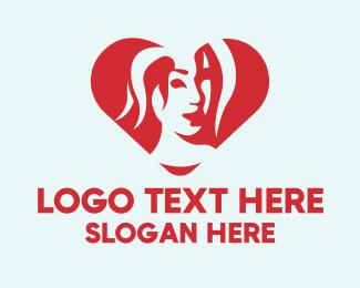 Beauty Brand - Woman Heart Beauty logo design