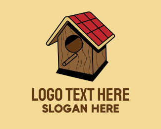 Woodpecker - Isometric Bird House logo design