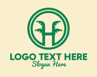 Tropic - Tropical Letter H logo design