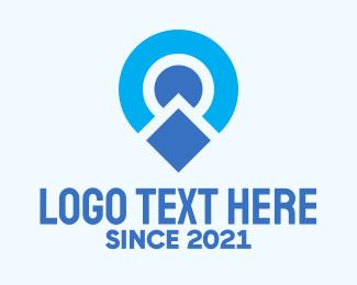 Location Pin - Blue Location Pin logo design