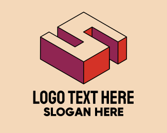 Pop Art - 3D Pixel Letter S logo design