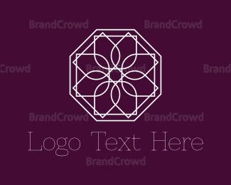 Cosmetic - Geometric Flower logo design