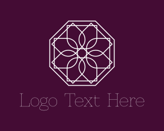 Octagon - Geometric Flower logo design
