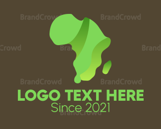 Plantation - Green African Continent logo design