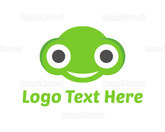 Alien - Happy Frog logo design