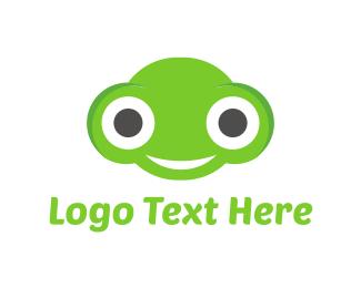 Alien - Happy Frog logo design