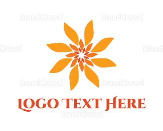 Sun - Flower Sun logo design