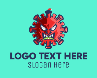 Angry - Angry Red Virus logo design