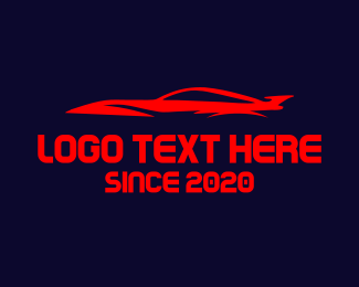 Fast Car - Red Car logo design