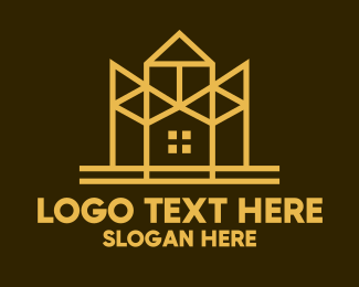 Minimalist - Minimalist Golden Mansion logo design