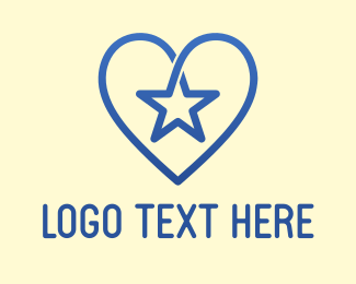 Star - Star Heart logo design