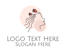 Maiden - Monoline Floral Maiden logo design