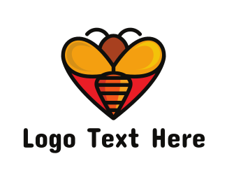 Caring - Bee Love logo design