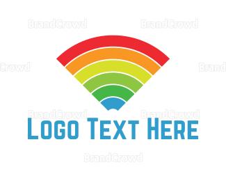 Sound Wave - Colourful Signals logo design