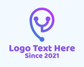 Medical Technology - Stethoscope Medical Tech logo design
