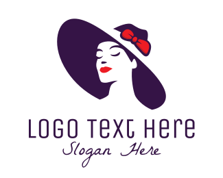 Sexy - Glamorous Hat Fashion Model logo design