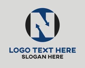Place - Letter N logo design