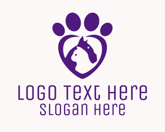 Pet Accessories - Purple Paw Veterinary  logo design