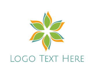 Sun Flower - Colorful Flower Petal logo design