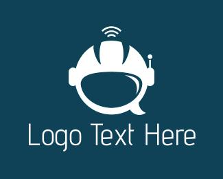 Astronaut - Astronaut Signal logo design