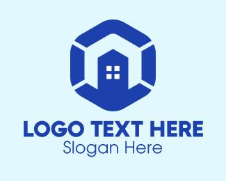 Building Construction Hexagon Logo