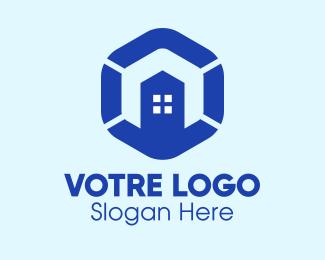 Construction Building Construction Hexagon logo design