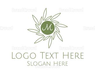 Crops - Olive Lettermark logo design