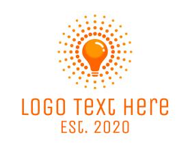 Light - Orange Light Bulb logo design
