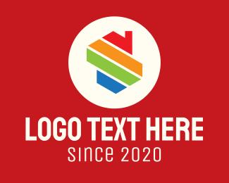 Home Lease - Multicolor Home Letter S logo design