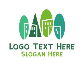 Town - Green Town logo design