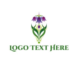 Bouquet - Purple Bouquet logo design