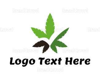 Marijuana Leaf - Cannabis Check logo design
