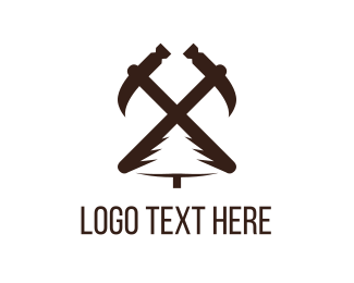 Hammer - Carpentry Tools logo design