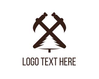Brown - Carpentry Tools logo design