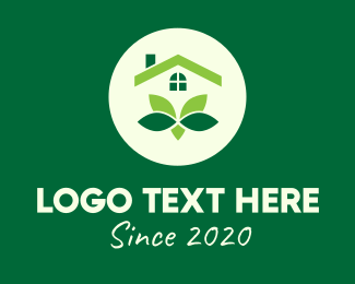 Home Garden - Green Home Subdivision logo design