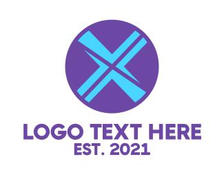 Reflection - Circle Letter X logo design