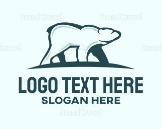 Antarctica - Polar Bear  logo design