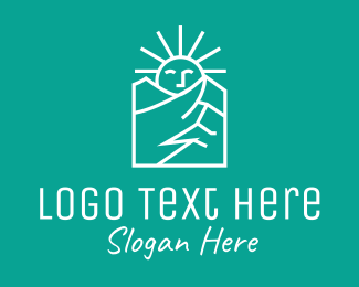 Ski - White Sunshine Mountain logo design