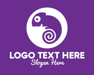 Salamander - Swirl Chameleon logo design