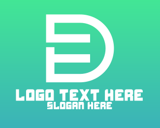 Dp - Tech Letter D Outline logo design