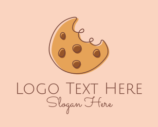 Dessert - Chocolate Chip Cookie Bite logo design