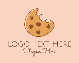 Delicious - Chocolate Chip Cookie Bite logo design
