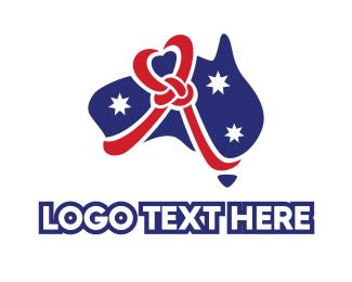 Cord - Love Heart Ribbon Australia logo design