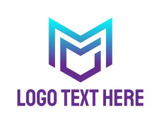 Mg - Gradient Blue MG logo design