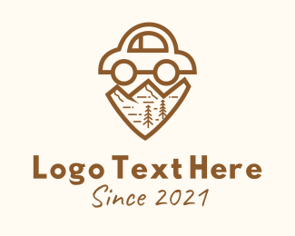 Automotive - Brown Mountain Car  logo design