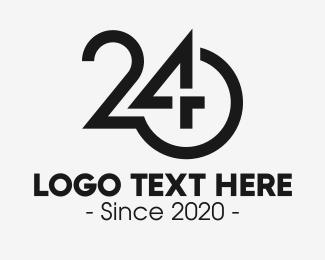 Timekeeper - Black Number 24 logo design