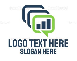 Text - Text & Chart logo design
