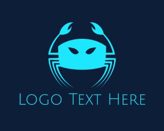 Crustacean - Blue Crab logo design