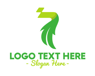 Reusable - Abstract Leaf Number 7 logo design